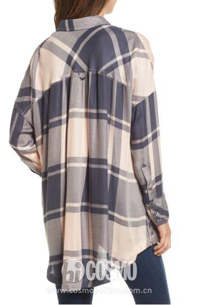 FREE PEOPLE Oversized Plaid Tunic 售价98美元 可在nordstrom网站购买