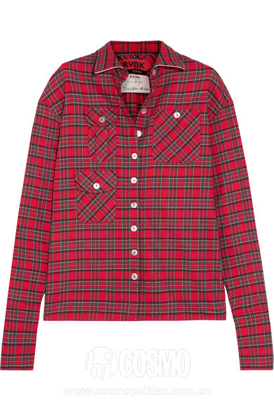 RONALD VAN DER KEMP Tartan cotton-flannel shirt 售价850美元 可在net-a-porter网站购买