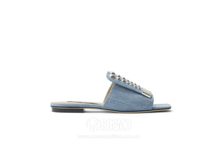 SR1 Denim slide with studs