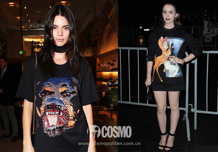 Kendall Jenner、Lily Collins