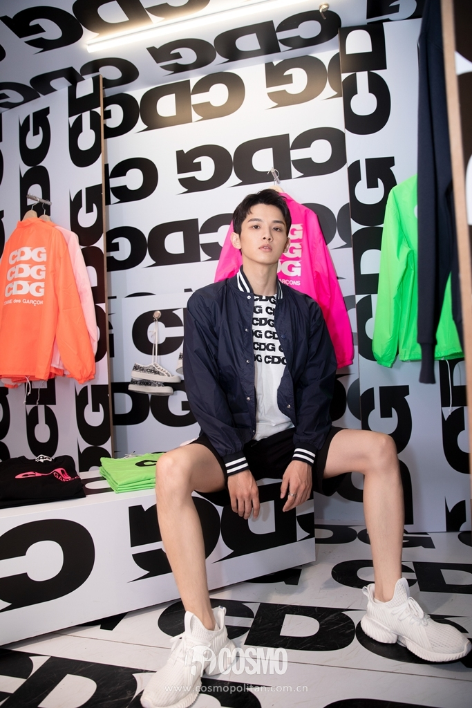 in CDGCDG T-shirt &  jacket from DSMB