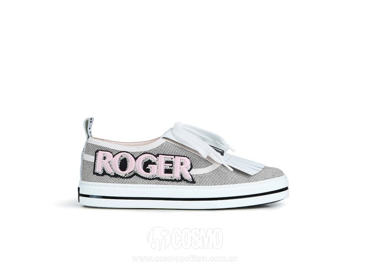 Roger Vivier Spring-Summer Collection 2020 - Call me vivier patch sneaker Grey  -  HD CMJN