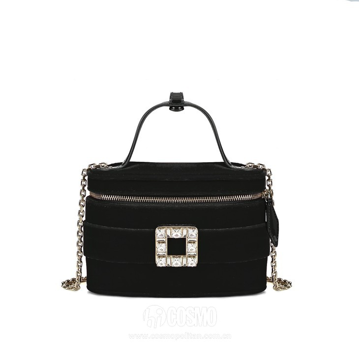 Roger Vivier Spring-Summer Collection 2020 - Roger vivier vanity bag micro Black-  HD CMJN