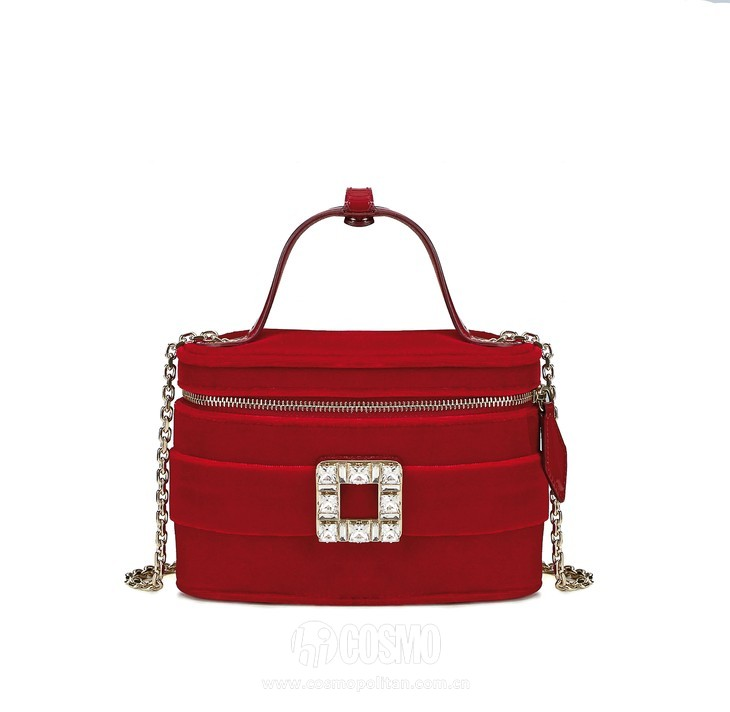 Roger Vivier Spring-Summer Collection 2020 - Roger vivier vanity bag micro Red-  HD CMJN